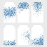 Установите 6 прекрасных бирок вектора партии Голубой крошечный Confetti на белой предпосылке бесплатная иллюстрация