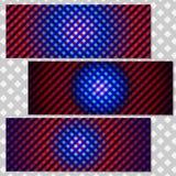 Установите предпосылки вектора, красочные абстрактные знамена галактики Стоковые Изображения