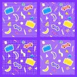 Установите предпосылки геометрии картины Мемфиса различные Стоковая Фотография RF