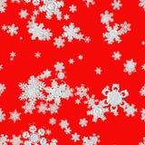 Установите предпосылку изолированную снежинками Стоковые Фото