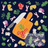 установите продукты картина безшовная отрезанные овощи Готовый внутри Стоковые Фотографии RF