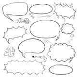 Установите пузыри комиксов бесплатная иллюстрация