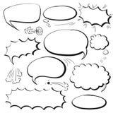 Установите пузыри комиксов Стоковые Изображения