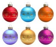 Установите путь клиппирования шариков рождества Стоковое Фото