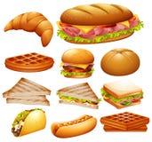 Установите различной еды бесплатная иллюстрация