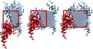 Установите рамки с абстрактными элементами иллюстрация вектора