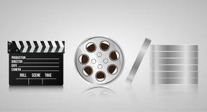 Установите реалистических объектов 3d для кинемотографии иллюстрация штока