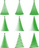 Установите рождественские елки Стоковые Фотографии RF