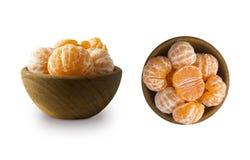 Установите свежих мандаринов Куски Клементинов изолированные на белой предпосылке Свежие tangerines с космосом экземпляра для тек стоковые фотографии rf