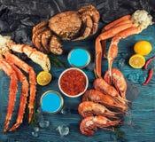 Установите свежих морепродуктов стоковое изображение rf