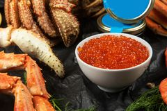 Установите свежих морепродуктов стоковые изображения rf