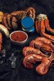 Установите свежих морепродуктов стоковые фото