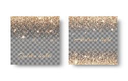 Установите световые эффекты на прозрачной предпосылке Стоковые Фотографии RF