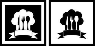 Установите символы ресторана Стоковая Фотография RF