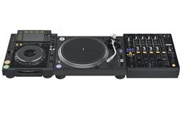 Установите смеситель таблицы dj цифровой, аппаратуру музыки Стоковое фото RF