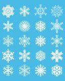 установите снежинки Стоковые Изображения