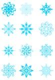 установите снежинки Стоковое Изображение RF