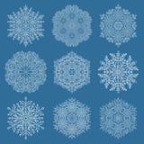 установите снежинки иллюстрация штока