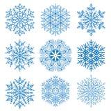 установите снежинки бесплатная иллюстрация