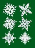 установите снежинки Стоковое Фото