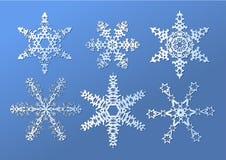 установите снежинки Стоковые Фото