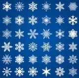 установите снежинки Стоковые Фотографии RF