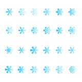 установите снежинку векториальным Стоковые Изображения RF