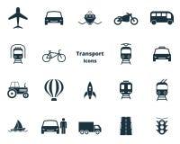 Установите собрание значков перехода вектора в плоском дизайне Переход города, vihecles, автоматические для веб-дизайна, представ иллюстрация вектора