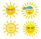 установите солнце Стоковое Изображение RF
