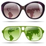 установите солнечные очки Стоковая Фотография RF