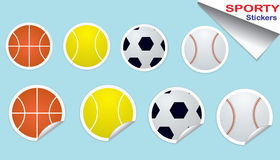установите стикеры спорта Стоковое фото RF