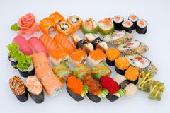 установите суши стоковые фото