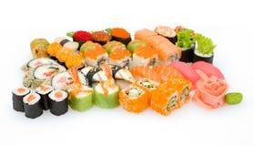 установите суши стоковое изображение