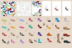 Установите с ботинками woman Стоковая Фотография RF