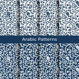 Установите с 8 картинами вектора арабскими с флористическим орнаментом дизайн для упаковки, ткани, внутренней Стоковое Изображение