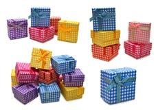 Установите с коробками подарка Стоковое Изображение RF