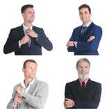 Установите с красивыми портретами бизнесменов стоковая фотография rf