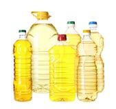 Установите с пластиковыми бутылками oi стоковое изображение