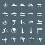Установите с различными значками погоды Стоковые Изображения RF