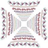 Установите с рамками сформированными квадратом красочными Стоковое Фото