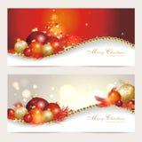 Установите с рождественскими открытками Стоковые Изображения RF