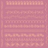Установите с 12 щетками нарисованными рукой Стоковое Изображение RF