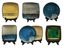Установите с японскими плитами стоковое изображение rf