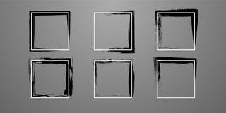 Установите творческой рамки прямой и grunge бесплатная иллюстрация