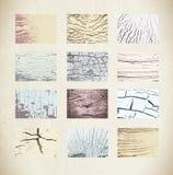 установите текстуру деревянным Стоковые Фото
