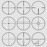 Установите телескопичных видимостей иллюстрация штока