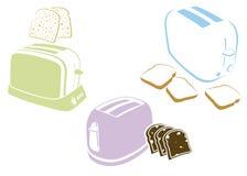установите тостеры Стоковые Фото