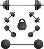 установите третьи различные весы иллюстрация вектора