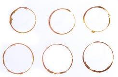 Установите тройника или колец кофейной чашки изолированных на белой предпосылке стоковые фотографии rf