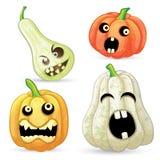 Установите тыквы на Halloween стоковые фотографии rf